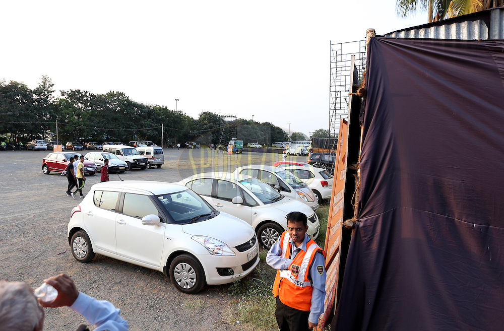 parking during match 33 of the Indian Super League (ISL) season 2  between FC Pune City and FC Goa held at the Shree Shiv Chhatrapati Sports Complex Stadium, Pune, India on the 8th November 2015.<br /> <br /> Photo by Sandeep Shetty / ISL/ SPORTZPICS