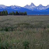 USA, Idaho, Tetonia. The western side of the Teton mountain range as viewed from Idaho.