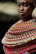 Samburu woman. Photo from the Samburu District, Kenya.