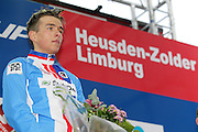 BELGIUM / ZOLDER / CYCLING / WIELRENNEN / CYCLISME / CYCLOCROSS / CYCLO-CROSS / VELDRIJDEN / WERELDBEKER / WORLD CUP / COUPE DU MONDE / JUNIORS / PODIUM / CELEBRATION / HULDIGING / ADAM TOUPALIK (CZE) /