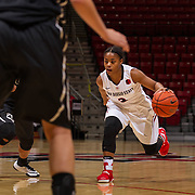 04 November 2016: The San Diego State Aztecs women's basketball team opens up the season with an exhibition against CSU San Marcos. The Aztecs beat the Cougars 74-53 at Viejas Arena Friday night. www.sdsuaztecphotos.com