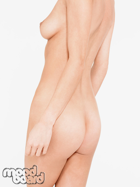 Nude Young Woman mid section