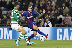 December 5, 2017 - Barcelona, Catalonia, Spain - Paco Alcacer during the UEFA Champions League match between FC Barcelona and Sporting CP Lisboa at the Camp Nou Stadium in Barcelona, Catalonia, Spain on December 5,2017  (Credit Image: © Miquel Llop/NurPhoto via ZUMA Press)