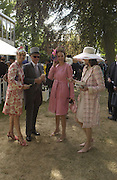Princess Cornina zu Sayn Wittgenstein,  Corinna Larsen, Corinna Larson, Corinna Sayn Witgenstein, , Princess Corinna Sayn-Wittgenstein, Winston Churchill, Kate Elaessens and Bernadette Lejeune, Ascot, Tuesday 15 June 2004. ONE TIME USE ONLY - DO NOT ARCHIVE  © Copyright Photograph by Dafydd Jones 66 Stockwell Park Rd. London SW9 0DA Tel 020 7733 0108 www.dafjones.com