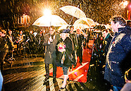 Princess Beatrix opens the Amsterdam Light Festival at the Stopera in Amsterdam