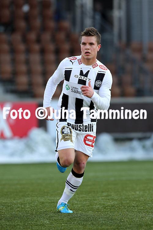 4.4.2012, Sonera Stadion, Helsinki..Liigacupin loppuottelu TPS Turku - HJK Helsinki..Aleksi Ristola - TPS