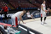 Team Olympiacos Piraeus pregame, Ax Armani Exchange Olimpia Milano vs Olympiacos Piraeus, Euroleague 2018, Milano 23 novembre 2017 - foto BERTANI/Ciamillo-Castoria
