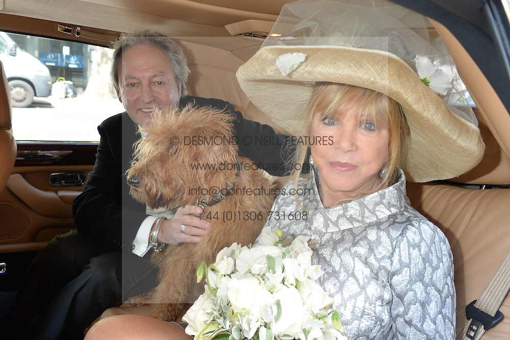 PATTIE BOYD And ROD WESTON Photographed At Their Wedding With Dog Freddie Chelsea Registry