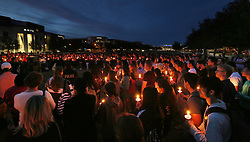 A candlelight vigil at Memory Mall on the UCF campus in Orlando, FL, USA, in commemoration of the one-year anniversary of the mass shooting at Marjory Stoneman Douglas High School, on Thursday, February 14, 2019. Photo by Stephen M. Dowell/Orlando Sentinel/TNS/ABACAPRESS.COM