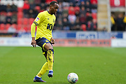Blackburn Rovers defender Ryan Nyambe (2) in action  during the EFL Sky Bet Championship match between Rotherham United and Blackburn Rovers at the AESSEAL New York Stadium, Rotherham, England on 2 March 2019.