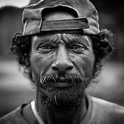 "A old ""garimpero"" at the gold mine of Juma, Amazonas, Brazil."