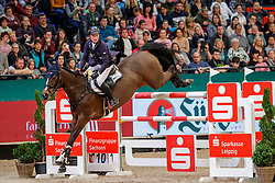 JUNG Michael (GER), Fischerchelsea<br /> Leipzig - Partner Pferd 2020<br /> Longines FEI Jumping World Cup™ presented by Sparkasse<br /> Sparkassen Cup - Großer Preis von Leipzig FEI Jumping World Cup™ Wertungsprüfung <br /> Springprüfung mit Stechen, international<br /> Höhe: 1.55 m<br /> 19. Januar 2020<br /> © www.sportfotos-lafrentz.de/Stefan Lafrentz