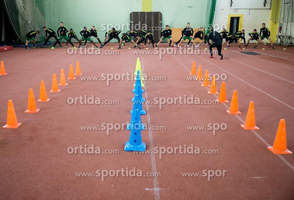 Athletes during first practice session of NK Olimpija Ljubljana in spring of the season 2016/17, on January 9, 2017 in ZAK, Ljubljana, Slovenia. Photo by Vid Ponikvar / Sportida