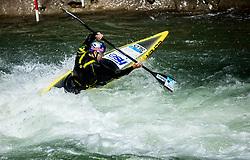 Peter Kauzer, Slovenian athlete during Kayak practice session in Tacen, Ljubljana, Slovenia. Photo by Vid Ponikvar / Sportida
