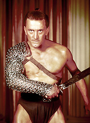 February 5, 2020, FILE: Actor KIRK DOUGLAS, an icon of Hollywood's Golden Age and star of such films as Spartacus, 20,000 Leagues Under the Sea, The Bad and the Beautiful and Champion has died. He was 103. PICTURED: 1960: Kirk Douglas stars in 'Spartacus.' (Credit Image: © Universal Pictures/Entertainment Pictures/ZUMAPRESS.com)