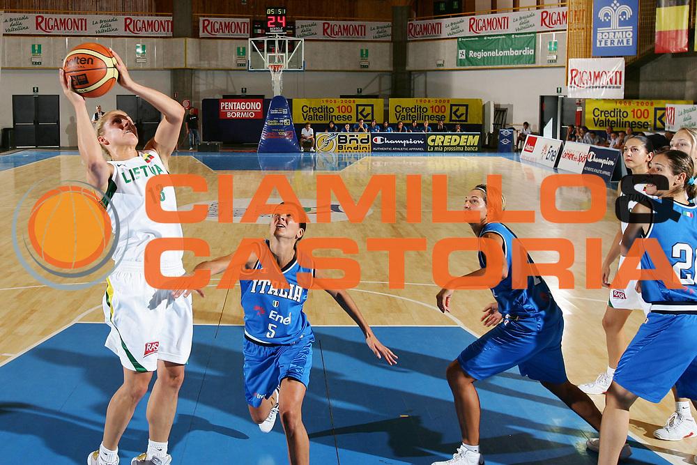 DESCRIZIONE : Bormio Torneo Internazionale Femminile Olga De Marzi Gola Italia Lituania <br /> GIOCATORE : Sandra Valuzyte <br /> SQUADRA : Lituania Lithuania <br /> EVENTO : Torneo Internazionale Femminile Olga De Marzi Gola <br /> GARA : Italia Lituania Italy Lithuania <br /> DATA : 25/07/2008 <br /> CATEGORIA : Tiro <br /> SPORT : Pallacanestro <br /> AUTORE : Agenzia Ciamillo-Castoria/S.Silvestri <br /> Galleria : Fip Nazionali 2008 <br /> Fotonotizia : Bormio Torneo Internazionale Femminile Olga De Marzi Gola Italia Lituania <br /> Predefinita :