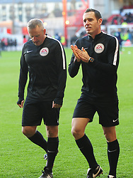 REFEREE JONATHAN MOSS AND ASSISTANT REFEREE EDWARD SMART,  Nottingham Forest v Arsenal Emirates FA Cup Third Round, City Ground Sunday 7th January 2018