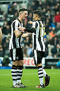 Newcastle United forward Ayoze Perez (#17) celebrates Newcastle United's third goal (3-0) during the EFL Sky Bet Championship match between Newcastle United and Rotherham United at St. James's Park, Newcastle, England on 21 January 2017. Photo by Craig Doyle.