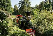 Palmengarten, Schmalspureisenbahn, Frankfurt am Main, Hessen, Deutschland | Palmengarten, botanical garden in Frankfurt, mini railway, Germany