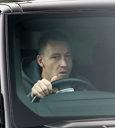 © Licensed to London News Pictures. 17/12/2015. London, UK. Defender John Terry leaves the Chelsea FC training ground after Jose Mourinho was sacked as manager of Chelsea Football Club today (December 17, 2015) Photo credit: Peter Macdiarmid/LNP