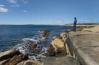 Granite shoreline near Peggy's Cove, Nova Scotia