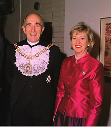 The Lord Mayor of London RICHARD NICHOLLS and MRS NICHOLLS, at an exhibition in London on 26th October 1998.MLF 5 2ORO