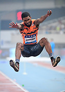 Michael Hartfield (USA) places eighth in the long jump at 25-10 1/4 (7.88m) during the IAAF Diamond League Shanghai 2018 in Shanghai, China, Saturday, May 12, 2018. (Jiro Mochizukii/Image of Sport)