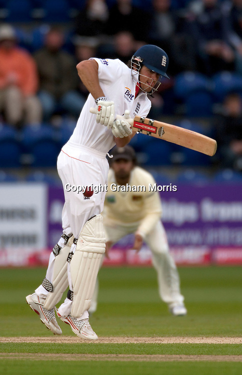 Alastair Cook bats during the first npower Test Match between England and Sri Lanka at the SWALEC Stadium, Cardiff.  Photo: Graham Morris (Tel: +44(0)20 8969 4192 Email: sales@cricketpix.com) 28/05/11