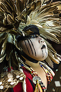 Portrait of a powwow dancer in full regalia at the 31st annual Gathering of Nations Powwow, Albuquerque, New Mexico.