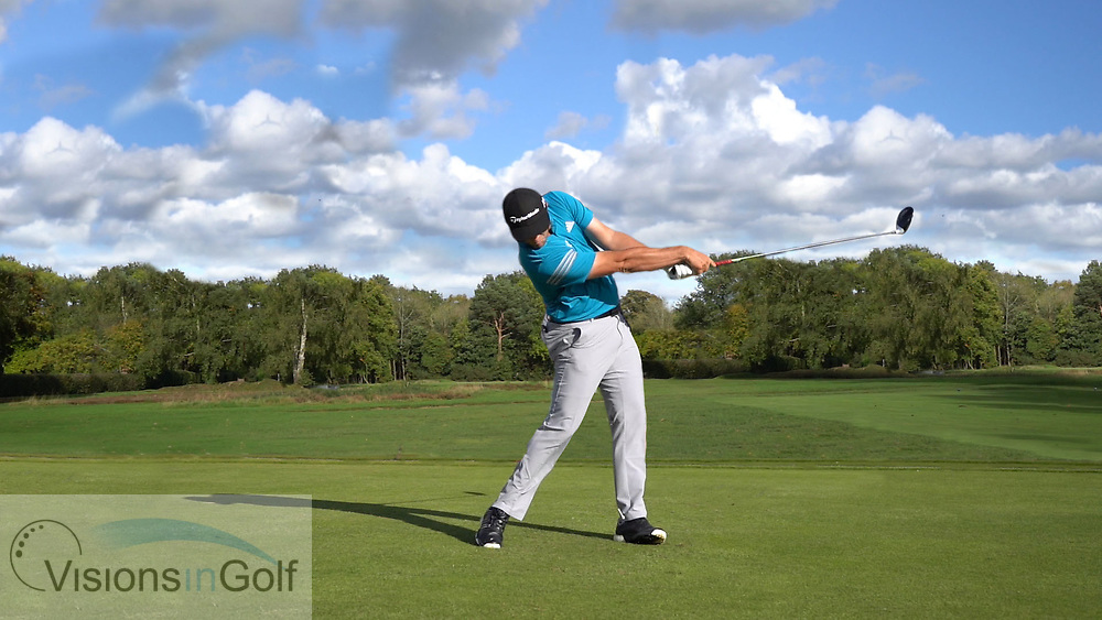 Jon Rahm<br /> High Speed Swing Sequence face on driver<br /> July 2017<br /> <br /> Golf Pictures Credit:  Mark Newcombe / www.visionsingolf.com