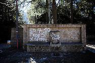 Monticchio Laghi (PZ) 12.03.2011 - Il degrado dei laghi di Monticchio (PZ). La fontana nei pressi dell'Abbazia di San Michele, è da anni non funzionante e nel degrado.