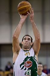 Vladimir Golubovic (21) of Olimpija at basketball match of 4th Round of NLB League between KK Union Olimpija and KK Crvena zvezda,  on October 24, 2009, Arena Tivoli, Ljubljana, Slovenia.  Union Olimpija won 94:76.  (Photo by Vid Ponikvar / Sportida)
