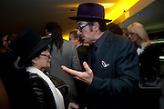 YOKO ONO; ELVIS COSTELLO, The 2009 GQ Men Of The Year Awards at The Royal Opera House. Covent Garden.  8 September 2009.