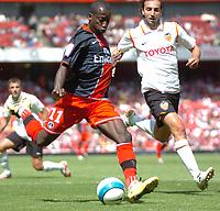 Photo: Tony Oudot.<br /> Paris Saint-Germain v Valencia. The Emirates Cup. 29/07/2007.<br /> Amara Diane of Paris St Germain scores the second goal