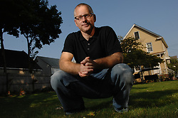 Garwood, NJ - Saturday, September 8, 2007 - Author Tom Perrotta (Election, Little Children, The Abstinence Teacher) is photographed at the house where he grew up (and where his mother still lives) - 351 Locust Avenue in Garwood, NJ...Rob Bennett for the New York Times