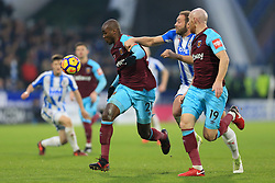 13th January 2018 - Premier League - Huddersfield Town v West Ham United - Angelo Ogbonna Obinze of West Ham battles with Laurent Depoitre of Huddersfield - Photo: Simon Stacpoole / Offside.