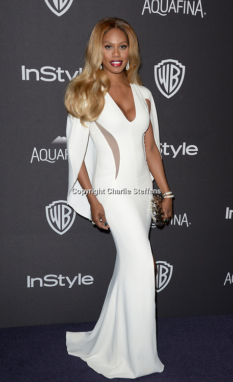 Laverne Cox at the InStyle and Warner Bros 73rd Annual Golden Globes Post-Party at the Beverly Hilton Hotel on January 10, 2016, in Beverly Hills, California. (Photo: Charlie Steffens/Gnarlyfotos)