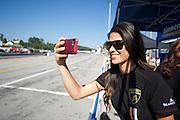 October 1-3, 2014 : Lamborghini Super Trofeo at Road Atlanta. Lamborghini grid girl