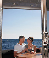 Couple Drinking Champaign on Boat