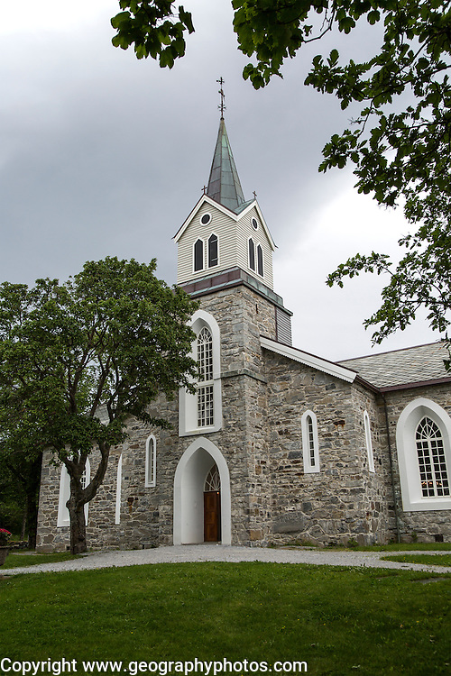 Bronnoy Church, Bronnoysund, Nordland, Norway built in 1870