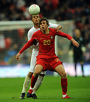 England U21/Portugal U21 European Under 21 Championship 14.11.09 <br /> Photo: Tim Parker Fotosports International<br /> Tiago Cintra Portugal Under 21's 2009/10