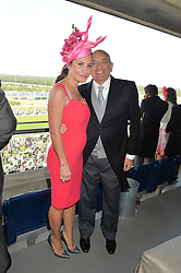 ALEXANDER & ELLA KRASNER at the first day of the 2014 Royal Ascot Racing Festival, Ascot Racecourse, Ascot, Berkshire on 17th June 2014.
