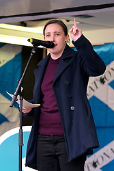 Independence Rally, Glasgow, Saturday 2nd November 2019<br /> <br /> Pictured: Mhairi Black MP<br /> <br /> Alex Todd | Edinburgh Elite media