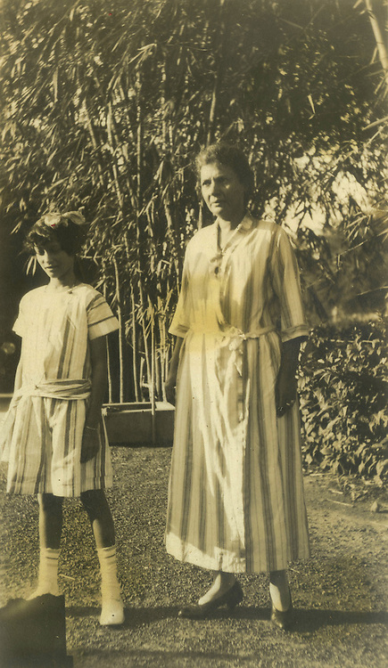 Christine Spittel and her mother, Claribel Frances Van Dort, at Wycherly, Spittel's home in Colombo.