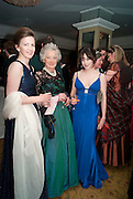LADY EMMA MAHMOOD; COUNTESS OF ROSEBERY;  FRANCESCA LAMARQUE. The Royal Caledonian Ball 2010. Grosvenor House. Park Lane. London. 30 April 2010 *** Local Caption *** -DO NOT ARCHIVE-© Copyright Photograph by Dafydd Jones. 248 Clapham Rd. London SW9 0PZ. Tel 0207 820 0771. www.dafjones.com.<br /> LADY EMMA MAHMOOD; COUNTESS OF ROSEBERY;  FRANCESCA LAMARQUE. The Royal Caledonian Ball 2010. Grosvenor House. Park Lane. London. 30 April 2010