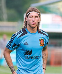 24.05.2012, Sportplatz Golm FC Schruns, Schruns, AUT, UEFA EURO 2012, Trainingslager, Spanien, im Bild Sergio Ramos (ESP) // Sergio Ramos of Spain during of Spanish National Footballteam for preparation UEFA EURO 2012 at Sportplatz Golm FC Schruns, Schruns, Austria on 20120524. EXPA Pictures © 2012, PhotoCredit EXPA/ Peter Rinderer