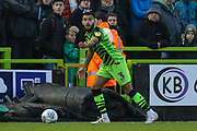 Forest Green Rovers Dominic Bernard(3) on the ball during the EFL Sky Bet League 2 match between Forest Green Rovers and Plymouth Argyle at the New Lawn, Forest Green, United Kingdom on 16 November 2019.