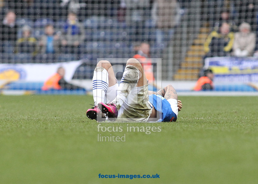 Picture by Michael Sedgwick/Focus Images Ltd +44 7900 363072.23/02/2013.Colin Kazim-Richards of Blackburn Rovers is injured during the npower Championship match against Leeds United at Ewood Park, Blackburn.