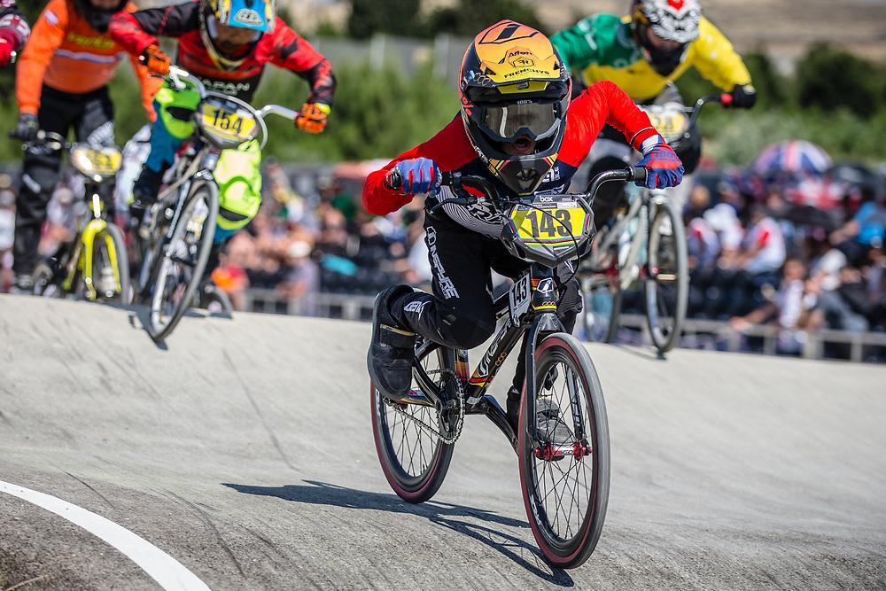 10 Boys #143 (NAYENER Nathan) FRA at the 2018 UCI BMX World Championships in Baku, Azerbaijan.