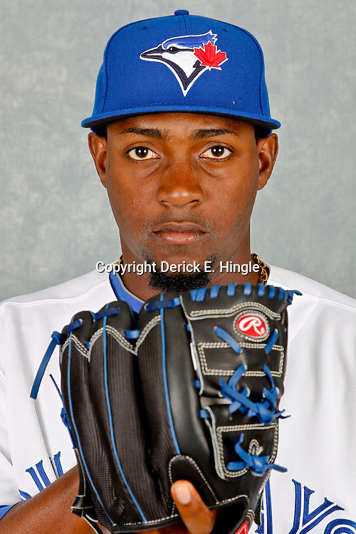March 2, 2012; Dunedin, FL, USA; Toronto Blue Jays relief pitcher Joel Carreno (34) poses for a portrait during photo day at Florida Auto Exchange Stadium.  Mandatory Credit: Derick E. Hingle-US PRESSWIRE